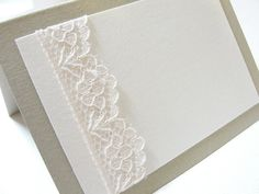 Lace Wrapped Place  Escort Cards by Lavender by LavenderPaperie1, $131.25
