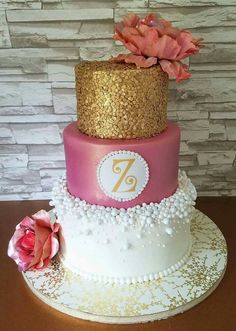 A beautiful cake for a beautiful wedding.