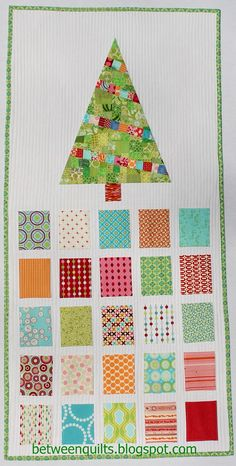 Between Quilts: Deck the Halls Scrappy Advent Calendar