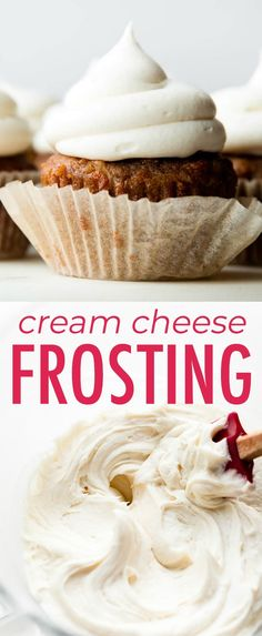 Smooth, silky, and delicious homemade cream cheese frosting! Recipe on sallysbak… Smooth, silky, and delicious homemade cream cheese frosting! Recipe on sallysbakingaddic… Cheesecake Frosting, Cheesecake Desserts, Frosting Recipes, Cream Cheese Frosting, Easy No Bake Desserts, Best Dessert Recipes, Sweet Recipes, Delicious Desserts, Scone Recipes