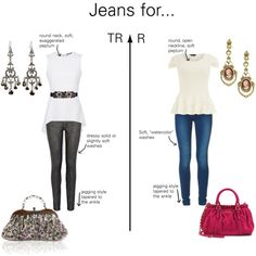 """Jeans for Romantic Types"" by thewildpapillon on Polyvore"