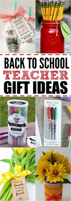 We have 27 easy back to school teacher gifts. Find the perfect back to school teacher gift ideas to start the year off right! These ideas are so simple! #onecrazymom #backtoschoolnight #backtoschool #backtoschoolteachergift #teachergifts #teachergiftideas #teachergiftsdiy #diyteachergifts #teachergiftsfirstday #teachergifthomemade