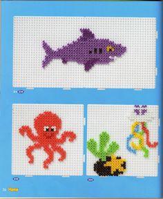Undersea Shark octopus hama perler - sandrinette57050