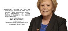 U.S. Congresswoman Lofgren Recognizes Sikh Genocide and Political Prisoners issue in Indian subcontiment - http://sikhsiyasat.net/2015/07/25/u-s-congresswoman-lofgren-recognizes-sikh-genocide/