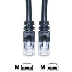 Patch Internet Cord LAN ETHERNET CABLE Cat5e RJ45 10pin,25ft.,Black Data