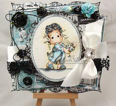 Magnolia OOAK  ' Tilda Rose Scent' Handmade Card