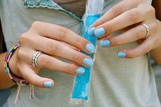 ohh robin's egg blue nails