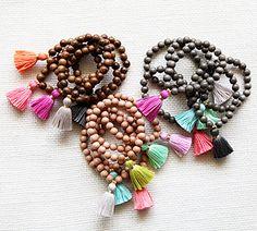 Gold & Gray tassel bracelets