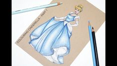 Round Here: Colouring Cinderella & My Favourite Colouring Supplies Disney Artwork, Disney Drawings, Prismacolor, Water Paint Art, Cinderella Drawing, Color Pencil Sketch, Colored Pencil Tutorial, Disney Cards, Disney Colors