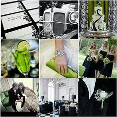 Black lime and Silver Wedding Decor