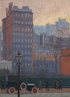 Malcolm Drummond: Queen Anne's Mansions, 1912 (Plymouth City Council: Museum and Art Gallery).