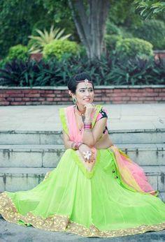 Indian Wedding Website : Wed Me Good Lehenga Collection, Bridal Collection, Lehenga Saree, Green Lehenga, Sarees, Mehndi Outfit, Lehenga Wedding, Desi Clothes, Lehenga Designs