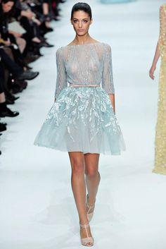 Elie Saab, Look #34,I'd wear a nice came. Love the skirt.