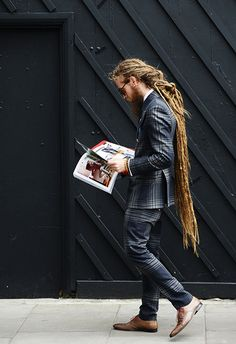 Tommy Ton Shoots Street Style At The Spring 2017 Menswear Collections Dreads