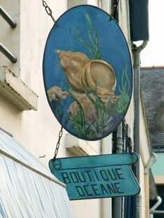 La boutique océane, côté pile, Sauzon, Belle-Île-en-Mer, Morbihan (56)