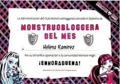 Monstruoblogera Julio de 2012 - Otorgado por Monster High - Mattel