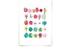 Alpha Dots by Kelly Ventura at minted.com