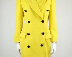 Escada by Margaretha Ley vintage yellow jacket coat -    Edit Listing  - Etsy