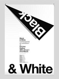 Contemporary art exhibition poster