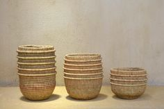 "Got to love these woven baskets by community project ""Gone Rural"" in Swaziland. Basket Weaving, Hand Weaving, Woven Baskets, Pot Sets, African Design, Work Inspiration, Interior, Projects, Weave"