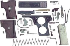 pistol webley & amp; scott m 1907