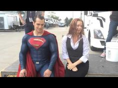 ALS Ice Bucket Challenge Amy Adams & Henry Cavill - Henry really gets it!!!! (Repin....repin.... REPIN!!!!!!!)