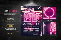 Super Lover - Flyer by VectorMedia on @creativemarket