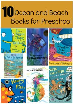 10 Books for #Ocean and #Beach learning #preschool #toddlers