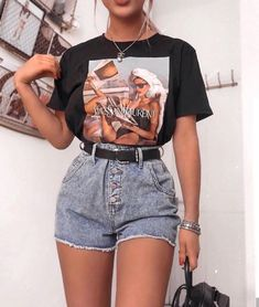 48 Catchy Summer Outfits Ideas To Wear Everyday Everyday Outfits catchy everyday Ideas outfits Summer Wear Mode Outfits, Retro Outfits, Vintage Outfits, Girl Outfits, Fashion Outfits, School Outfits, Summer Outfits Women, Grunge Outfits, Outfits For Teens