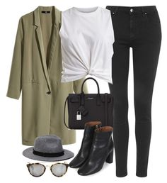 """""""Untitled #694"""" by paradise-101 ❤ liked on Polyvore featuring Topshop, H&M, VILA, Yves Saint Laurent, Taylor Morris, Zara and chilly"""