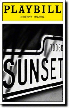 Playbill Cover for Sunset Boulevard at Minskoff Theatre  Sunset Boulevard Playbill - Opening Night, Nov 1994