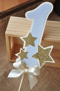 Twinkle Twinkle Little Star Cake Topper. Pastel Blue Number Cake Topper with Glitter Accent Stars. - - Twinkle Twinkle Little Star Cake Topper. Pastel Blue Number Cake Topper with Glitter Accent Stars. Baby Boy 1st Birthday Party, 1st Birthday Party Decorations, Birthday Diy, Baby Party, Cake Birthday, Parties Decorations, Decoration Party, Birthday Gifts, Birthday Ideas