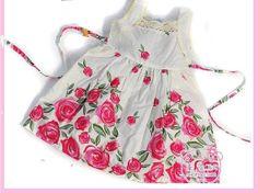 Toddler Girl's Pink Rose Flower DRESS Free Shipping by Diutobaby, $17.00