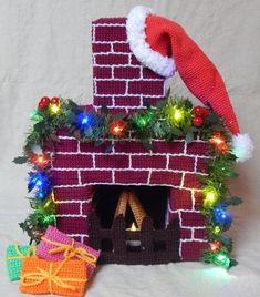 50 cm großen Kamin als Hingucker bei der Weihnachts-Deko jetzt selber häkeln: Das hat garantiert nicht jeder. Probiers einfach mal aus. Auch für Anfänger.