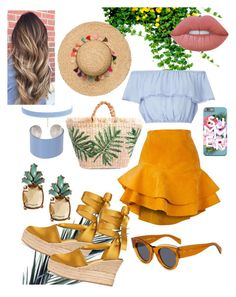 """Summer Day Dates"" by anjanette-ramirez on Polyvore featuring Siobhan Molloy, Miss Selfridge, Tory Burch, CÉLINE, Banana Republic, Jules Smith, Maison Margiela and Lime Crime"