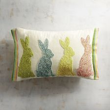 c2cb4e8816 Beaded Sugar Bunnies Lumbar Pillow (and the cute lil  white boonehs