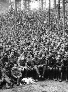 Massed troops, WWI