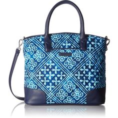 Vera Bradley Day Off Satchel ($75) ❤ liked on Polyvore featuring bags, handbags, vera bradley purses, vera bradley, satchel handbags, shoulder handbags and satchel shoulder bag