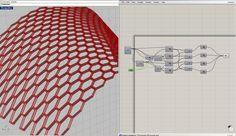 Square Extrusion honeycomb panel - Grasshopper
