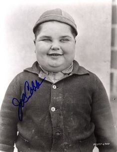 """JOE FRANK COBB    Birth: Nov. 7, 1916  Pottawatomie County, USA  Death: May 20, 2002  Culver City  Los Angeles County  California, USA    Actor. The original """"fat kid"""" from Hal Roach's Our Gang series. He was born in Shawnee, Oklahoma, in 1916 and was """"discovered"""" while vacationing with his dad in Los Angeles. He was in 86 Our Gang comedies and made the transition from silent film to talkies"""