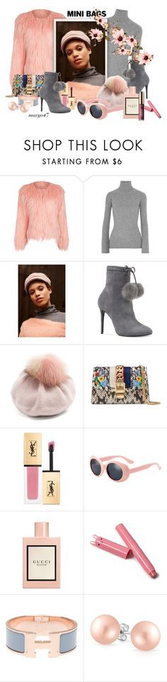 """""""mini bags 4"""" by margo47 ❤ liked on Polyvore featuring WithChic, Autumn Cashmere, August Hat, Michael Kors, Miu Miu, Gucci, Hermès and Bling Jewelry"""