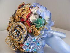 Wizard of OZ inspired brooch wedding bouquet