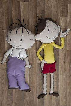 Poduszko - maskotki Bolek i Lolek. #maskotka #poduszka #dziecko #przyjaciele #bajka #bolek #lolek #tkanitka
