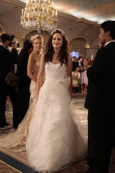 Leighton Meester as Blair in Vera Wang