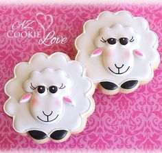 Sheep Farm Cookies, Crazy Cookies, Iced Cookies, Cute Cookies, Easter Cookies, Cupcake Cookies, Sugar Cookies, Cupcakes, Sheep Fondant