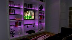 AURO illuminated glass shelving