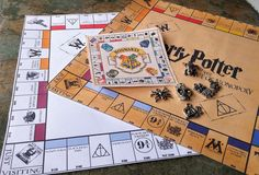 Harry Potter Monopoly, Miniature Harry Potter Game, Handmade Harry Potter Monopoly Set, Harry Potter Gifts, Travel Set Harry Potter Monopoly by SpryHandcrafted on Etsy Harry Potter Money, Harry Potter Monopoly, Harry Potter Games, Hogwarts Acceptance Letter, Ministry Of Magic, Magic Cards, Selling On Pinterest, Game Pieces, Miniature Dolls