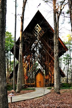 Anthony Chapel in Hot Springs, Arkansas - a glass chapel in the woods at Garvan Woodland Gardens.