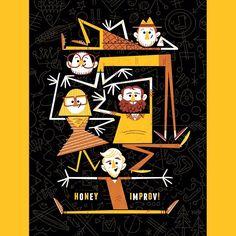 Poster design for Honey Improv, a super rad team out of New York!