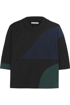 Marni Color-block cotton-blend top #Marni